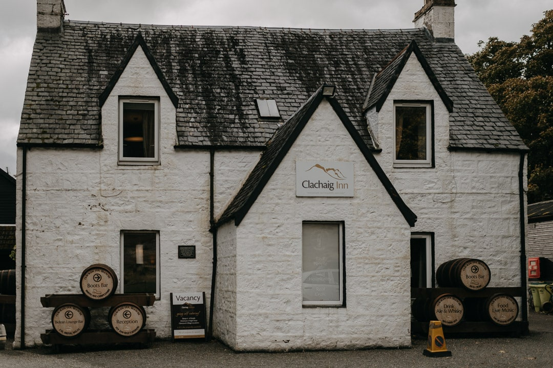 Clachaig Inn - elopement lunch in Glencoe