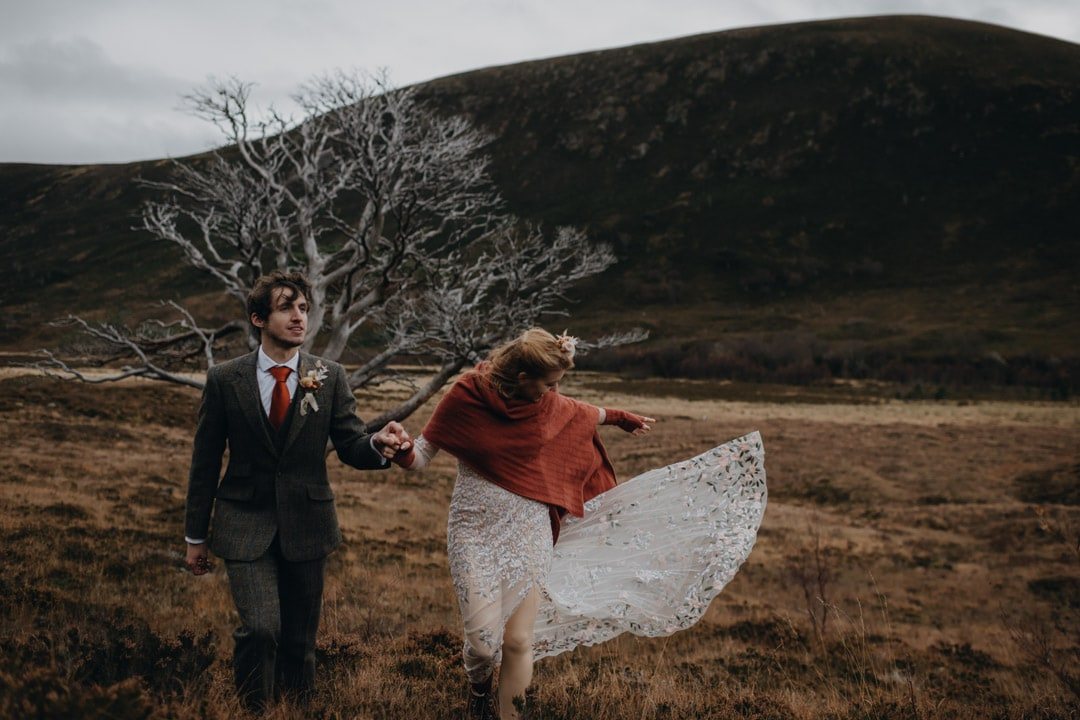 Alladale elopement scotland couple