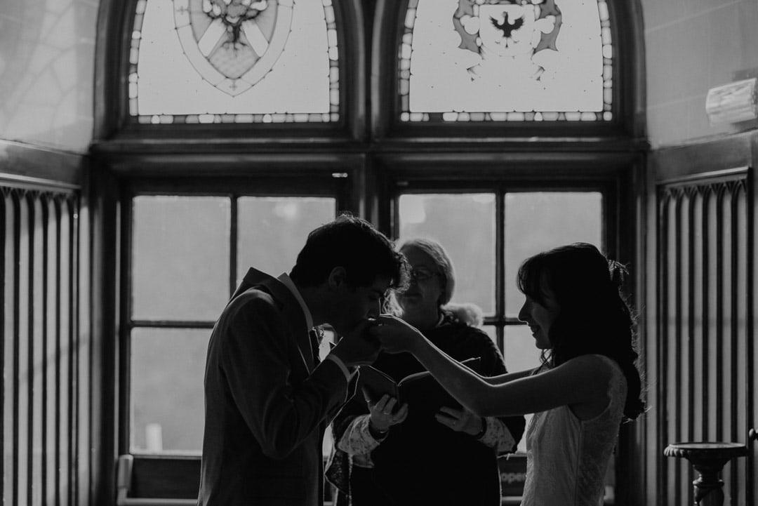Edinburgh elopement couple at Dalhousie Castle Scotland