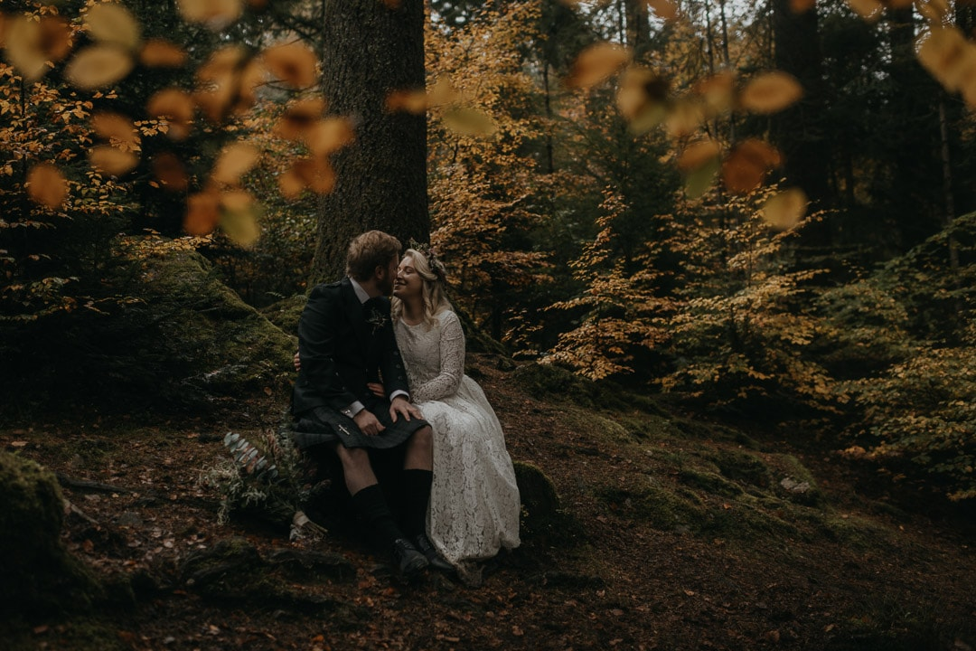 scottish elopement in forest