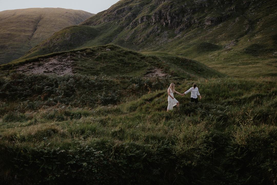glen etive elopement couples adventure