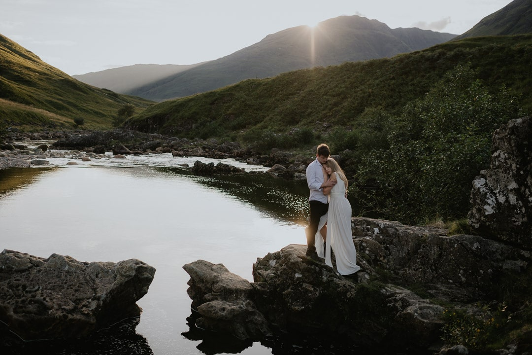 summer glencoe elopement in Glen Etive