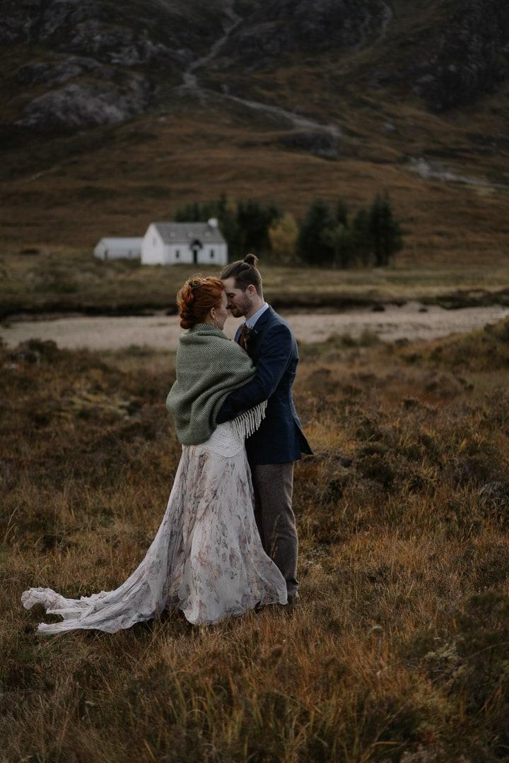 Lagangarbh Hut glencoe elopement