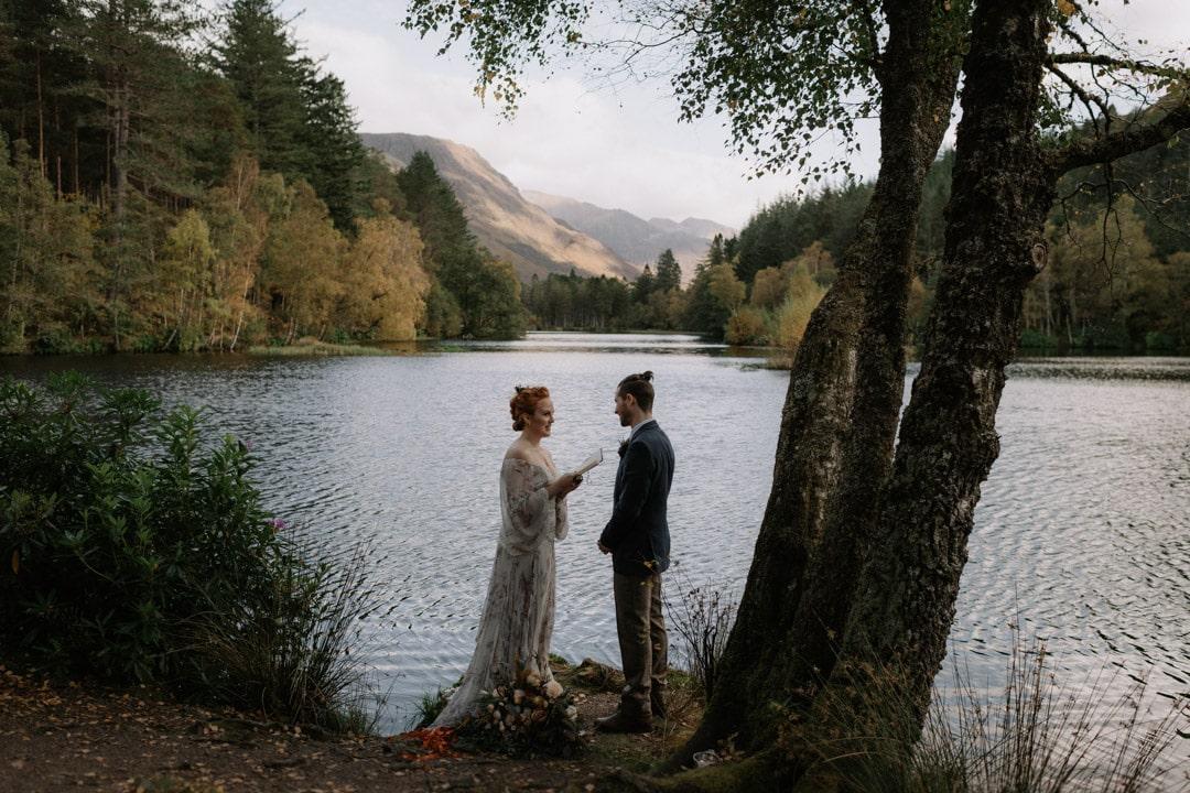glencoe lochan ceremony wedding elopement