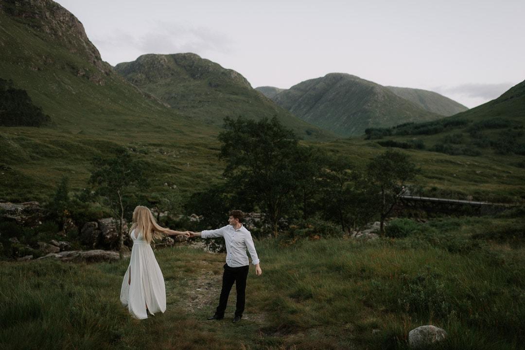 glen etive elopement dancing