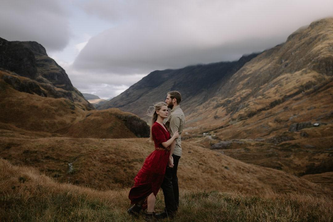 autumn elopement in epic mountains of glencoe