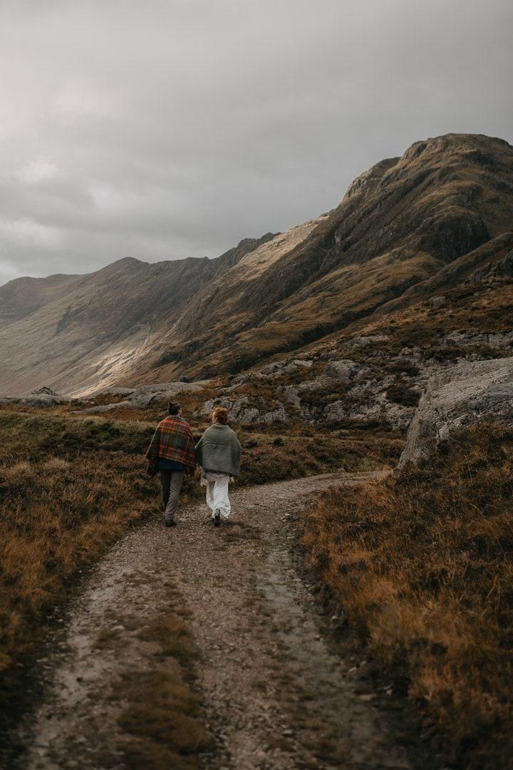elope in glencoe in autumn