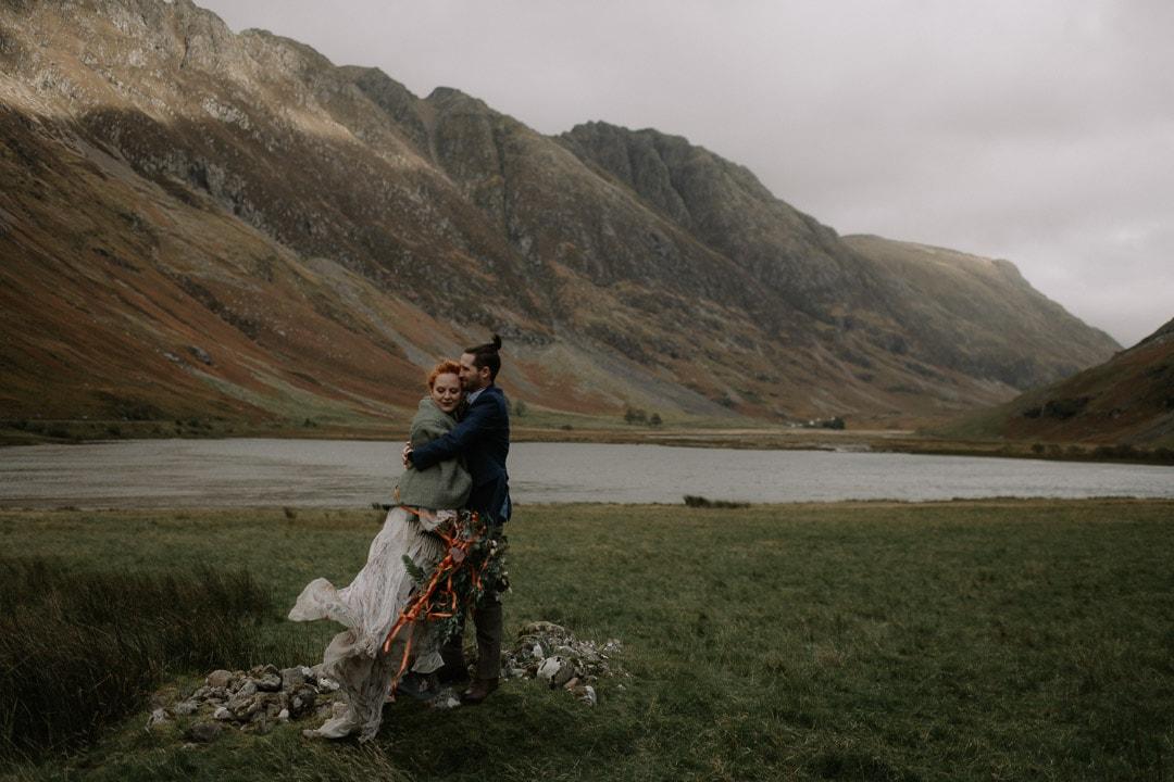 wild glencoe elopement wedding outdoors