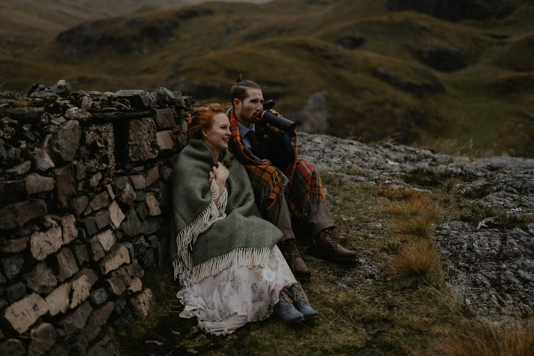 coping with marrying outdoors in glencoe