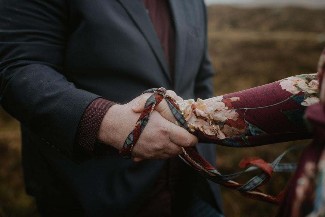 glencoe elopement handfasting cord