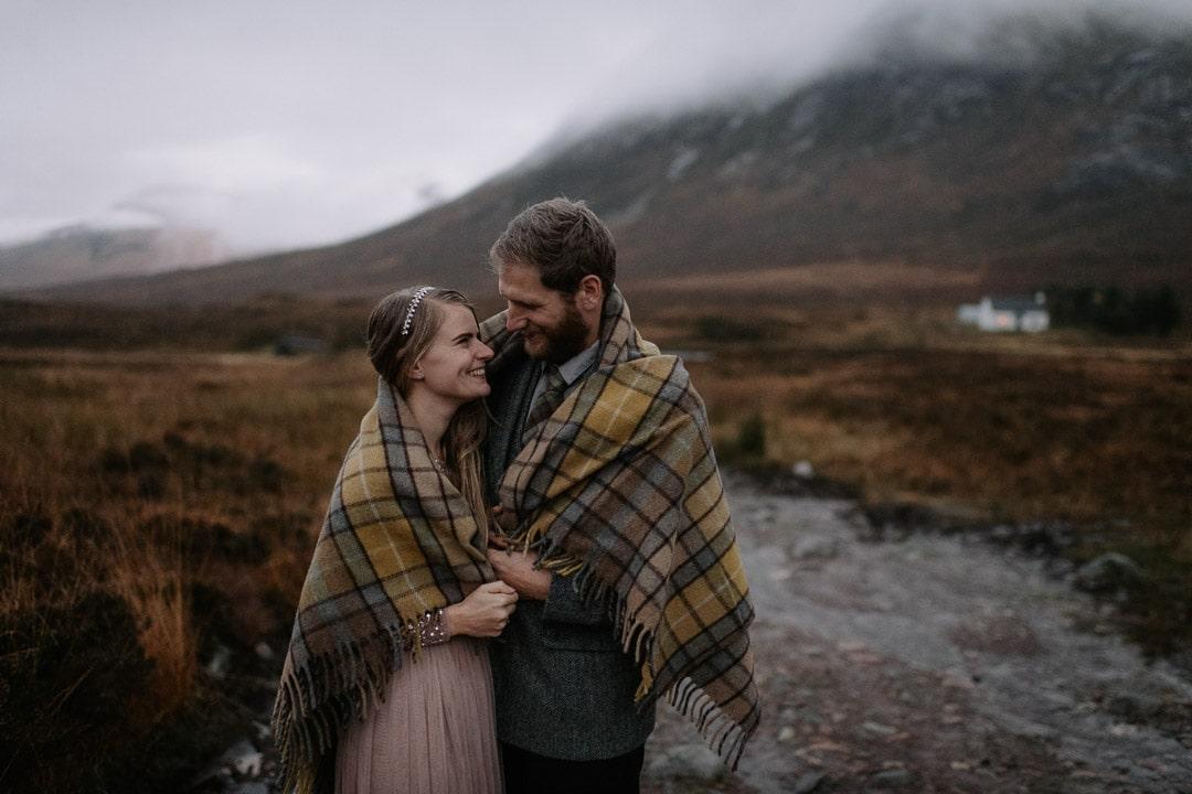 tartan blanket co elopement in scottish highlands