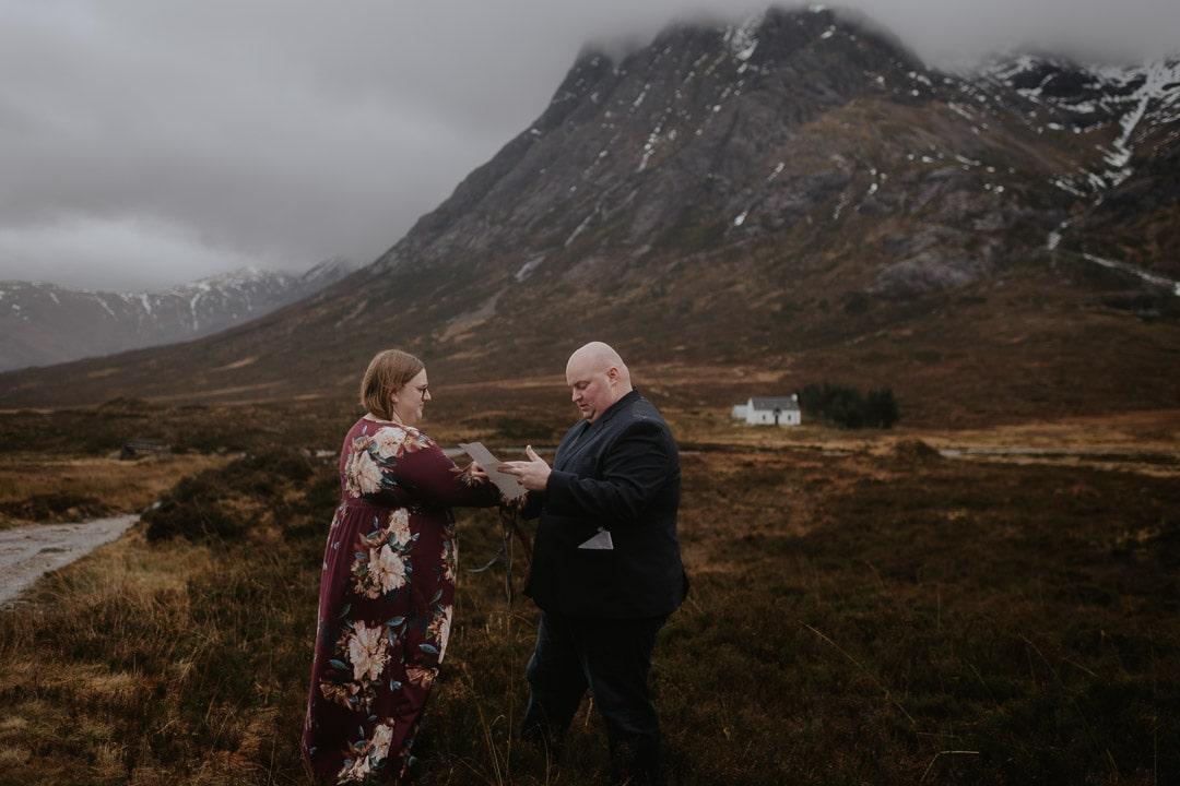 glencoe elopement vows